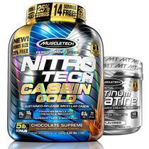 Kit Nitro tech Whey e Creatina Muscletech 2,3kg Chocolate -