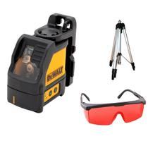 Kit Nível à Laser Automático 15M DW088K + Tripé + Óculos DEWALT -