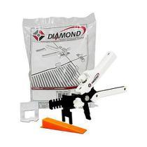Kit Nivelador de Piso Sharp: 100 Clips + 50 cunha + 1 Alicate - Diamond