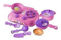 Kit Nossa Conzinha Com Fogão Panelas E Comidinha 9 Peças - Zuca Toys