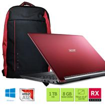 Kit: Notebook Acer A515-41G-1480 AMD A12 8GB RAM 1TB HD Radeon RX 540 com 2GB 15.6