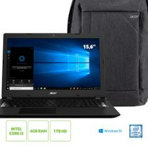 Kit: Notebook Acer Aspire A315-53-32U4 Intel Core i3 4GB RAM 1TB HD 15.6