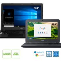 Kit:Notebook Acer Aspire A315-53-32U4 Intel Core i3-7020U + Chromebook Acer C731-C9DA Intel Celeron