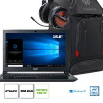 Kit:Notebook Acer Aspire A515-51G-71CN Core i7 8GB 2TB GeForce 940MX 2GB 15.6