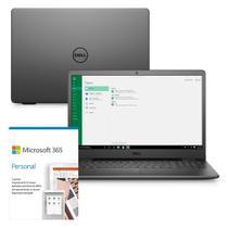"""Kit Notebook Dell Inspiron 3501-M45PF 15.6"""" HD 11ª Geração Intel Core i5 8GB 256GB SSD Windows 10 Microsoft 365 Preto -"""