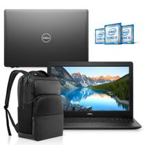 "Kit Notebook Dell Inspiron 3583-M3XBP 15.6"" 8ª Geração Core i5 8GB 1TB Windows 10 Preto + Mochila Pro -"