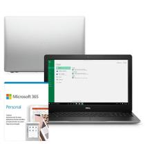 "Kit Notebook Dell Inspiron 3583-MS110SF 15.6"" 8ª G Intel Core i7 8GB 1TB 128GB SSD Placa vídeo Win 10 Microsoft 365 -"