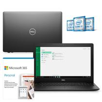 "Kit Notebook Dell Inspiron 3583-MS55PF 15.6"" 8ª Ger Intel Core i3 4GB 256GB SSD Windows 10 Microsoft Office 365 Preto -"
