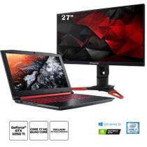 Kit:Notebook Gamer Acer AN515-51-75KZ Core i7 16GB 1TB 15.6 1050Ti+Monitor Gamer Predator XB271HU 27