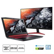 Kit:Notebook Gamer Acer Nitro AN515-51-78D6 Core i716GB 1TB 1050Ti+Monitor Gamer Predator KG271