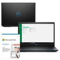 "Kit Notebook Gamer Dell G3 3500-M20PF 15.6"" 10ª G Intel Core i5 8GB 512GB SSD Placa Vídeo NVIDIA Win 10 Microsoft 365 -"