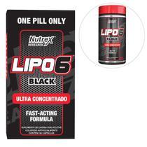 Kit Nutrex Lipo 6 Black Ultra Concentrado 60 Cáps + Lipo 6 Black Powder Ultra Concentrate 120g -