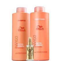 Kit Nutri-Enrich Shampoo, Condicionador e Oil R. - Wella - Wella Professionals