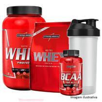 Kit Nutri Whey 907g Choc + Nutri Whey Refil + BCAA + Coqueteleira - Integral Médica