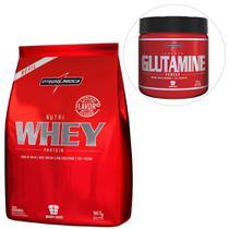 Kit Nutri Whey Protein 907 g Refil + Glutamine 300 g - Body Size - IntegralMédica -