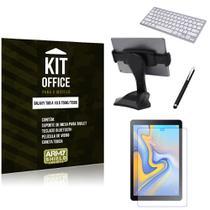 Kit Office Samsung Galaxy Tab A 10.5' T590/T595 Suporte Mesa + Teclado Bluetooth + Película + Caneta - Armyshield -