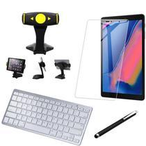 Kit Office Samsung Galaxy Tab A S Pen 8.0 P205/P200 Suporte +Teclado + Película +Caneta - Armyshield -