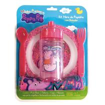 Kit Oficial a Hora da Papinha Pepa Pig c/ Babador BabyGo 1298 -