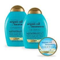 Kit OGX Argan Oil of Morocco Shampoo + Condicionador + Óleo 100mL -
