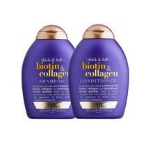 Kit Ogx Biotin & Collagen: 1 Condicionador 385ml + 1 Shampoo 385ml -