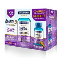 Kit omega 3 c/ 300 capsulas laboratorio catarinense -