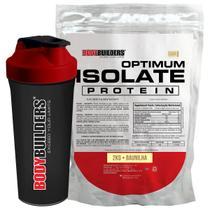 Kit Optimum Isolate Whey Protein 2kg  Baunilha+ Coqueteleira - Bodybuilders -