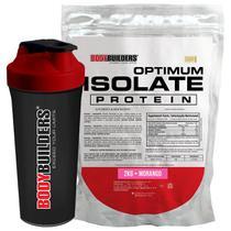 Kit Optimum Isolate Whey Protein 2kg  Morango + Coqueteleira - Bodybuilders -