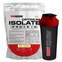 Kit Optimum Isolate Whey Protein 900g  Baunilha  +  Coqueteleira - Bodybuilders -