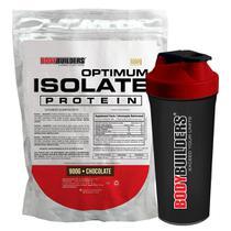 Kit Optimum Isolate Whey Protein 900g  Chocolate  +  Coqueteleira - Bodybuilders -