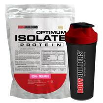 Kit Optimum Isolate Whey Protein 900g  Morango  +  Coqueteleira - Bodybuilders -