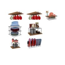 Kit Organizador Armário Cozinha Xícara Panela Prato Aço 7 Un - Dicarlo