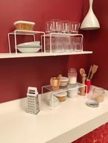Kit Organizador de Armário de Cozinha Aramado Prateleiras 3 unidades em Aço - Dicarlo