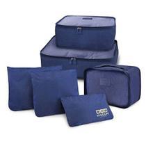 Kit Organizador de Malas com 6 Peças Viagem Jacki Design - ARH18608 -