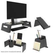 Kit Organizador de Mesa e Escritório Prime Preto Maxcril -
