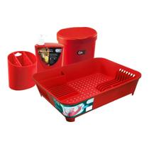 Kit organizando sua pia vermelho bold - coza -