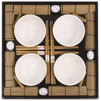 Kit Oriental Sushi 16 peças Hashi Bowl Esteira Kyoto Yoi -