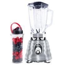 Kit Osterizer Aço Escovado - Liquidificador e Jarra Blend N Go -