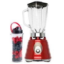 Kit Osterizer Vermelho - Liquidificador e Jarra Blend N Go -