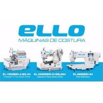 Kit Overloque+Reta+Galoneira Eletrônica Ello Completas c/ Mesa -