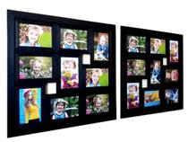 Kit Painel De Fotos Com 2 Quadros Para 9 Fotos 10X15 Cada - Camila Artesanatos