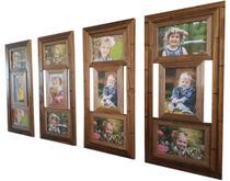Kit Painel De Fotos Com 4 Quadros De 3 Fotos 10x15 Rústico - Camila Artesanatos