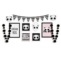 Kit Painel Desconstruído Festa Panda Rosê Cromus - Festabox