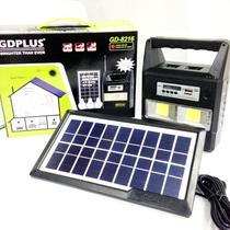Kit Painel Placa Solar E Bateria 3 Bulbo Led + Radio Usb Mp3 - Hamy
