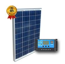 Kit Painel Placa Solar Fotovoltaica 10w + Controlador Carga - SINOSOLA