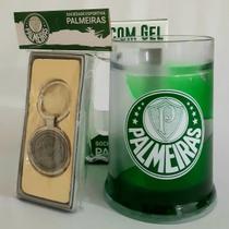 Kit Palmeiras - Caneca Gel Congelante Com Chaveiro Prateado -
