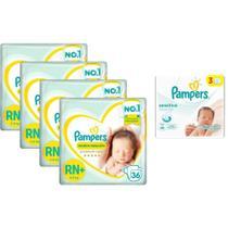 Kit Pampers RN + Toalhinha Sensitive -