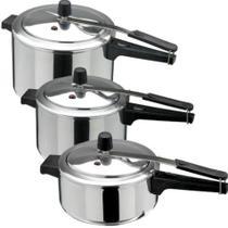 Kit Panela de pressão 3 peças de 7, 3 e 4,5 litros INMETRO - Asj