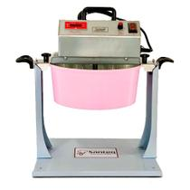 Kit Panela Elétrica 32cm Alumínio Rosa + Suporte Virador (Virateq) - SANTEQ