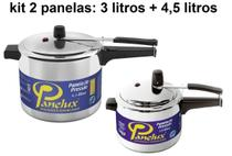 Kit Panelas De Pressão 3 Litros E 4,5 Litros Polida Panelux -