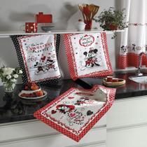 Kit Panos de Copa Dohler Mickey e Minnie 3 peças -